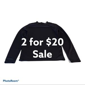 Champion Dry Fit Black Long Sleeve Size XL